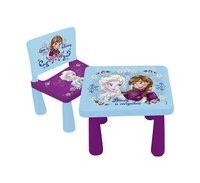 Set de jardin pour enfants Disney La Reine des Neiges table + 1 chaise