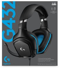 Logitech casque-micro G432 Wired-Avant