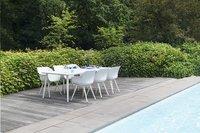 Hartman Table de jardin Sophie Studio blanc L 240 x Lg 100 cm-Détail de l'article