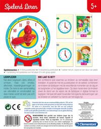 Spelend leren: Hoe laat is het?-Achteraanzicht
