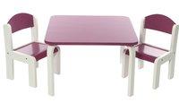 Tafel met 2 stoeltjes Fabio wit/fuchsia