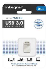 Integral USB-stick Fusion 16 GB aluminium