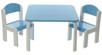 Tafel met 2 stoeltjes Fabio wit/blauw