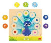 Goula puzzle à boutons en bois Paon-Détail de l'article