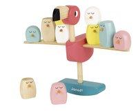 Janod houten stapelblokken / evenwichtspel Roze flamingo-Rechterzijde