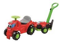Écoiffier Tractor met grasmaaier en aanhangwagen-Vooraanzicht