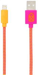 bigben Kabel USB-Lightning roze/oranje