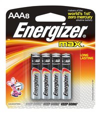 Energizer Max pile AAA - 8 pièces