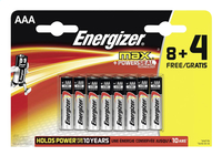 Energizer Max pile AAA - 12 pièces