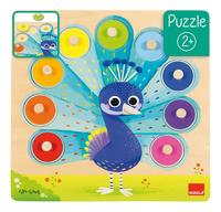 Goula puzzle à boutons en bois Paon-Avant