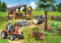 Playmobil Country 6814 Véhicule de débardage avec bûcherons-Image 1