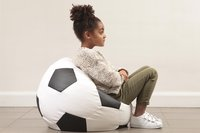 Pouf Lounge Football Euro blanc/noir-Détail de l'article