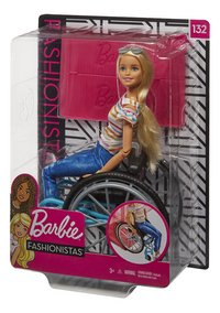 Barbie Fashionistas 132 - Barbie en chaise roulante-Côté droit