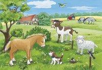 Ravensburger puzzel 2-in-1 Jonge Dieren op het Platteland-Artikeldetail