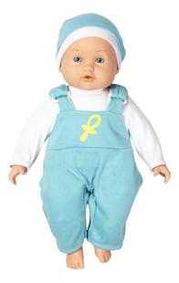 DreamLand poupée souple Ma première poupée salopette bleue