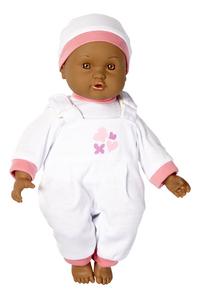 DreamLand poupée souple Ma première poupée salopette blanche