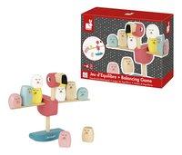 Janod houten stapelblokken / evenwichtspel Roze flamingo-Artikeldetail