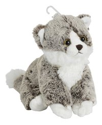 Nicotoy knuffel zittende kat grijs 23 cm-Linkerzijde