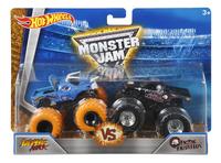 Hot Wheels Monster Truck Demolition Doubles Jurassic Attack VS Metal Mulisha