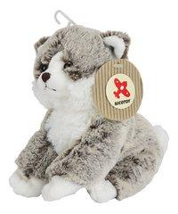 Nicotoy knuffel zittende kat grijs 23 cm-Rechterzijde