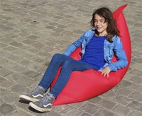 Pouf coussin rouge