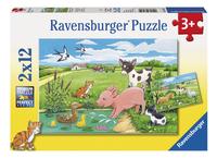Ravensburger puzzel 2-in-1 Jonge Dieren op het Platteland-Vooraanzicht