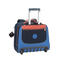 Kipling trolley-boekentas Clas Dallin Blue Orange Bl 42,5 cm