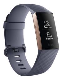Fitbit capteur d'activité Charge 3 HR or rose/bleu ardoise-Côté gauche