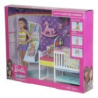 Barbie speelset Babysitter Skipper - Tweeling met kinderkamer-Rechterzijde