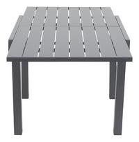 Table de jardin Modulo anthracite 90 x 90 cm-Détail de l'article
