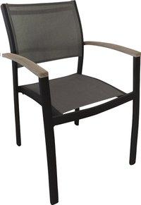 Chaise de jardin Creil gris argenté/anthracite