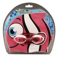 Zwemmuts Vis met zwembril roze-Vooraanzicht