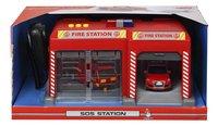 Dickie Toys set de jeu SOS station Belgique Pompiers