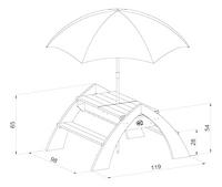 AXI table de pique-nique pour enfants Delta Sable et Eau avec parasol-Détail de l'article