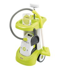 Smoby schoonmaaktrolley met stofzuiger Rowenta Perfect Clean-Vooraanzicht