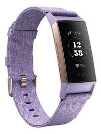 Fitbit activiteitsmeter Charge 3 HR roze/lavendel-Linkerzijde
