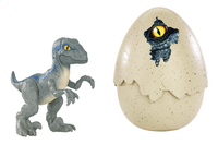 Jurassic World figuur Hatch 'n Play Dinos Velociraptor Blue-Vooraanzicht