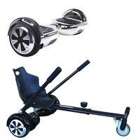 Symex Balance Board Balance Scooter zilver + Seatkart zwart