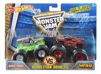 Hot Wheels Monster Truck Demolition Doubles Grave Digger VS Max-D