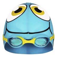 Zwemmuts Vis met zwembril blauw-Vooraanzicht