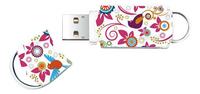 Integral USB-stick Xpression Birds 8 GB multicolor