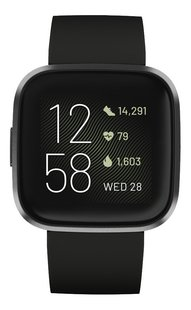 Fitbit montre connectée Versa 2 noir/carbone-Avant