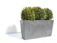 Ecopot's Rechthoekige bloembak Paris grey-Afbeelding 1