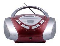 MPMan radio/lecteur CD portable Boombox 30 rouge/gris