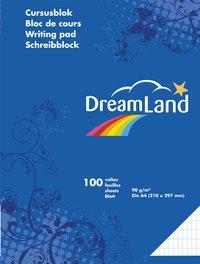 DreamLand cursusblok A4 commercieel geruit