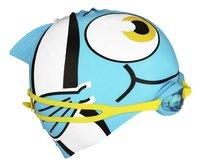 Zwemmuts Vis met zwembril blauw-Linkerzijde