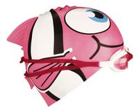 Zwemmuts Vis met zwembril roze-Linkerzijde