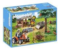 Playmobil Country 6814 Véhicule de débardage avec bûcherons-Avant