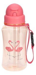 Lässig drinkfles met rietje Flamingo-Vooraanzicht