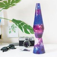 Lavalamp Galaxy met glitters paars/blauw-Afbeelding 1